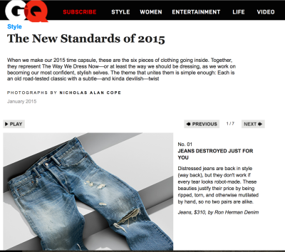 The New Standard in 2015 - GQ January 2015