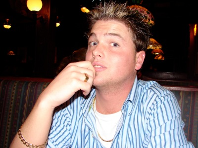 I'm not sure what path this was... in 2006 doing my best N'Sync look with the frosted tips. Also, loving the gold jewelry.
