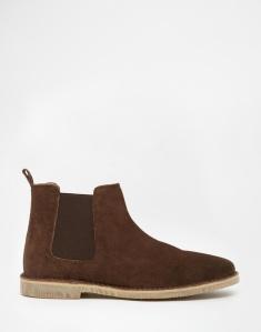 ASOS Chelsea Desert Boots in Brown Suede