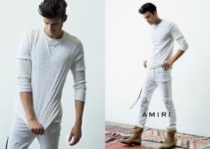 Amiri Shotgun blast tee and long sleeve undershirt